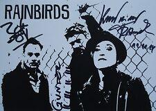 RAINBIRDS   _   YONDER  _   Autogramm  _  Autogrammkarte 2014  _ Blueprint  1988