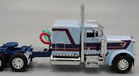 """DCP HARRISON TRUCKING BLUE PETERBILT 379 63"""" FLATTOP SLEEPER TRUCK 1/64 34013C"""