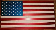 "USA WOOD AND METAL FLAG  24""  Hand Made in Waco Texas"