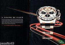 PUBLICITE ADVERTISING 056  2011  la montre Rolex   Daytona (2p)