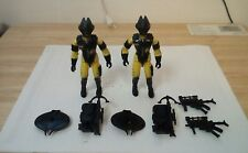 Two GI Joe Alley Vipers 3.75 inch action figures (black and yellow)Yo Joe!