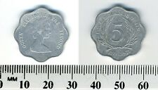 East Caribbean States 1981 - 5 Cents Aluminum Coin - Elizabeth II - scalloped