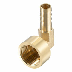 Brass Hose Barb Fitting Elbow 10mm Barbed x G1/2 Female Pipe Connector