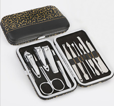 N12 PCS Nail Clippers Cleaner Cuticle Grooming Kit Case Pedicure / Manicure Set