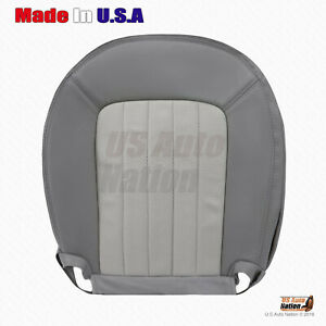 2002 Mercury Mountaineer DRIVER Bottom Perforated Leather Seat Cover 2 Tone Gray