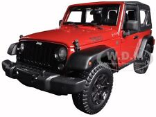 2014 JEEP WRANGLER WILLYS RED 1:18 DIECAST MODEL CAR BY MAISTO 31676