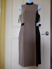 White House Black Market Mock Neck Sheath Dress Back / Brown Color New Size 4
