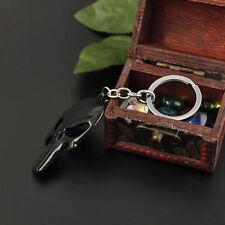 Hot Men Keychain The Punisher Black Skull Silver Metal Keyring Accessories Pop~