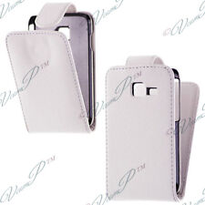 CASE COVER COVERS FLAP LEATHERETTE WHITE FILMS FOR SAMSUNG GALAXY Y PRO B5510