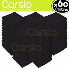 60x Black Car Cleaning Detailing Microfiber Soft Polish Cloths Towels Lint Free