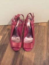 Gorgeous Purple Leather Peeptoe Heels French Connection Size 5