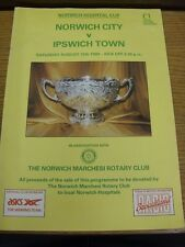 12/08/1989 Norwich Hospital Cup Final: Norwich City v Ipswich Town  . We try and