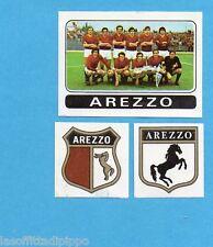 FIGURINA PANINI 1972/73-n.385- AREZZO - SQUADRA+SCUDETTO+STEMMA-Rec