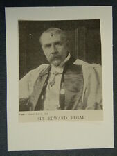 handmade greetings card with music theme ELGAR  /c