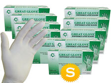 1000 Latex Gloves - Powder Free - 10 boxes - Size Small