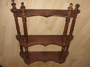 wall Stand shelf Wood old Shop Display Cabinet Wooden HANGING Victorian antique