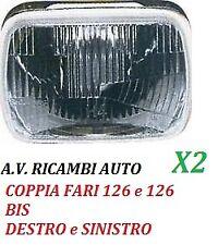 COPPIA FARI FANALE PROIETTORE ANTERIORE DX - SX FIAT 126 126 BIS DAL 72 AL 92 R2