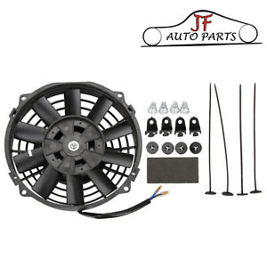 """7"""" Inch 12V Universal Electric Pull / Push Radiator Cooling Fan & Mounting Kits"""