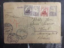 1928 Sandomierz Poland Postcard Cover Extra Uprated To Vienna Austria