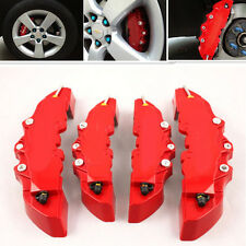 4x Red Brembo 3D Style Car Universal Disc Brake Caliper Covers Front & Rear