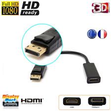 Câble Adaptateur Display Port Mâle vers HDMI Femelle  PC/ HP/ IMAC/ DELL/ HD-TV