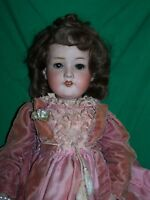 "Antique Armand Marseille A4M 390 Bisque Composition Germany Girl Doll 20"" Tall"