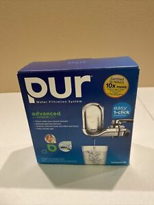 PUR Mineral Clear Filtration System Chrome FM-3700B W/ 3 Replacement Filters NIB
