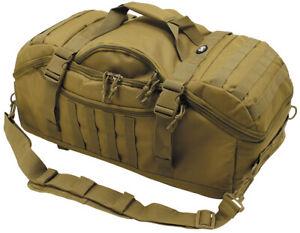 "Rucksacktasche ""Travel"" Airsoft Military Army Outdoor Behörden Coyote Tan"