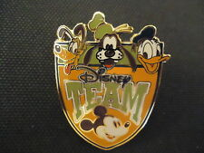 DISNEY WDW CAST MEMBER TEAM DISNEY WITH FAB 4 MICKEY DONALD GOOFY PLUTO PIN
