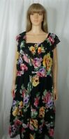 Women's Denim 24/7 Size 32W 4X Sleeveless Floral Dress Casual Work Clothes