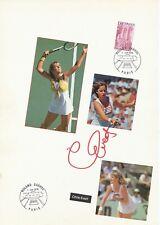 Chris Evert  USA  Tennis Karte original signiert 410978