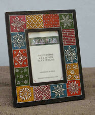 Handmade Hand Painted Multi Colour Photo frame 4x6 gift  Picture frame 4x6 fine