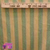 Home Decor Crackle Classic Green Tan Stripe Heavy Upholstery Fabric by the Yard