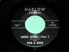 "DON & EDDIE ""Green Apples"" 45 : Harlow Records 103 @ 1960s Rockin' R&B"