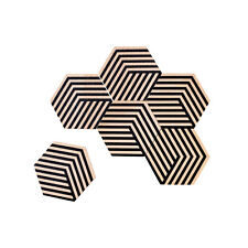 Areaware : Table Tiles Optical Coasters - Black