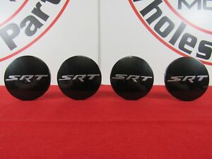 DODGE DURANGO SRT8 Low Gloss Black Wheel Center Cap Set Of 4 NEW OEM MOPAR