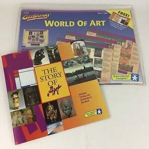 GeoSafari World Of Art Electronic Learning Game Pack 20 Game Card Bonus Book 90s