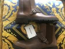 Belstaff Plaistow Ankle Buckle BOOTS Brown 45/12 Made in Italy
