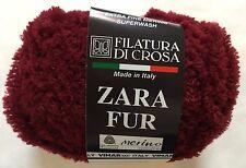 Filatura di Crosa Zara Fur Yarn #16 Crimson Merino Superwash Short Eyelash