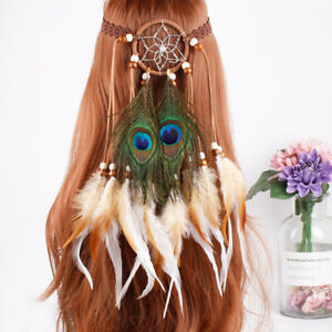 Indian Hippie Feather Headband Dream Catcher Festival Tribal Hairband Headdress