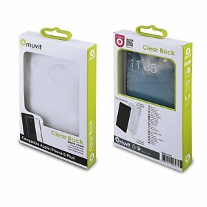 (RV431) JOBLOT of 35 x Muvit MUCRY0033 Clear Back Case for Apple iPhone 6Plus