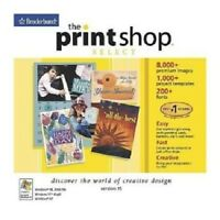 Print Shop 15 Select Pc New Cd Rom Sealed In Paper Sleeve XP