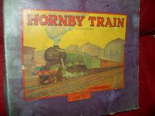Antique wind up metal, HORNBY TRAIN set MECCANO LTD England 1920s w/key, lbd.box