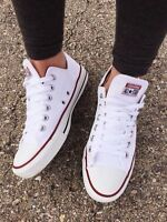 Converse All Star Low Tops Chuck Taylor white Trainers Shoes uk size 3.5 euro 36