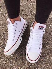 Converse All Star Low Tops Chuck Taylor white Trainers Shoes uk size 4.5 euro 37