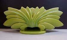 VINTAGE HANDCRAFTED GLAZED ART DECO STYLE ART POTTERY PLANTER / CENTERPIECE .