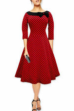 3/4 Sleeve Formal Plus Size Spotted Dresses for Women
