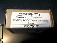 AIR PRODUCTS & CONTROLS MR-701/T GENERAL PURPOSE RELAY NEW IN ORIGINAL Box