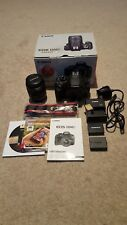 Canon EOS 1200D DSLR camera kit boxed with Canon lens and low shutter count