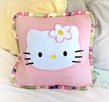 "HELLO KITTY Sanrio Pink Purple Yellow Green Camouflage Bedroom Throw Pillow ~15"""